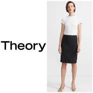 Theory Black Stretch Pencil ✏️ Skirt Size 2